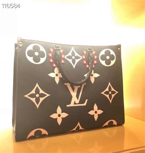 louis vuitton crafty onthego bag cm oversized monogram cowhide leather canvas springsummer