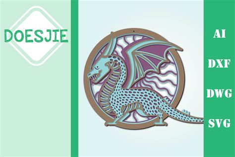 Free svgs download bear mandala zentangle svg dxf eps png cricut. Multi layer mandala dragon (539571) | Cut Files | Design ...