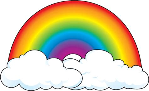 Rainbow And Sun Clipart