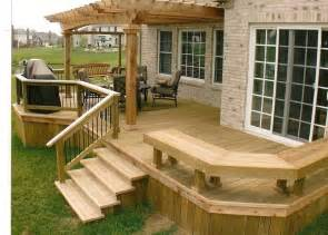 Simple Decks For Houses Ideas by 25 Best Ideas About Backyard Deck Designs On