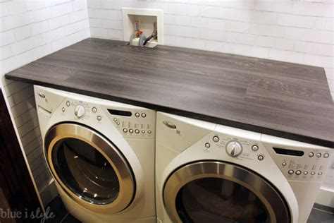washer and dryer countertop diy with style diy wood plank laundry room countertop