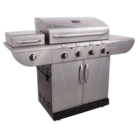 infrared grills shop char broil tru infrared commercial 4 burner 36000 btu liquid propane gas grill with side