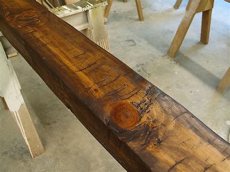 antique kitchen island hollow beam after glazing wunderwoods