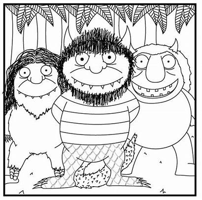 Coloring Pages Wild Things Party Printable Birthday