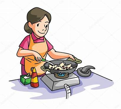 Cooking Woman Illustration Clipart Vector Mom Wife
