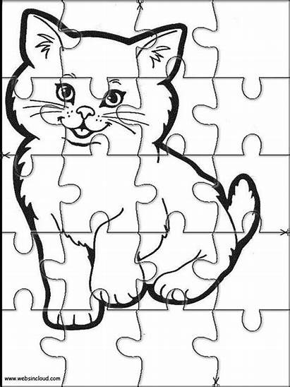 Puzzles Animals Printable Jigsaw Coloring Cut Pages