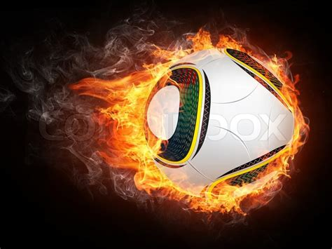 soccer ball  fire  graphics computer design stock