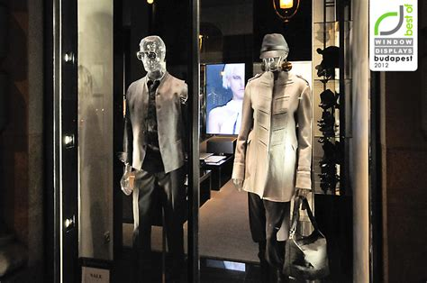 emporio armani window display budapest