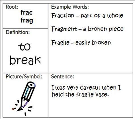 Tree Graphic Organizer  Vocabulary Chart (word) Or Vocabulary Chart (pdf) Vocabulary Chart