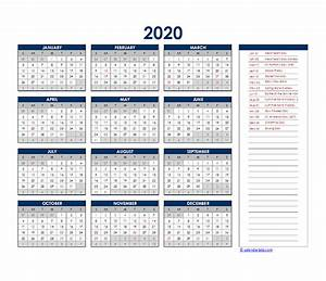 2020 Yearly Calendar Template Word 2020 South Africa Yearly Excel Calendar Free Printable