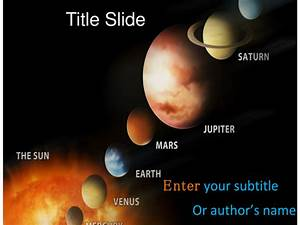 Solar System PPT Template by TemplatesVision - Teaching ...