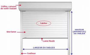 tablier volet roulant alu tuto electricite tableau With dimension volet roulant electrique