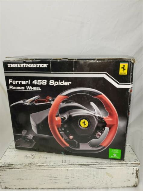 The ferrari 458 spider wheel has a wide and adjustable, optimised pedal set. Thrustmaster Ferrari 458 Spider (4460105) Wheel And Pedals Set for XBox One New | eBay