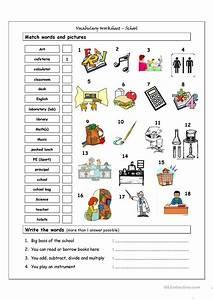 Vocabulary Matching Worksheet - School Worksheet