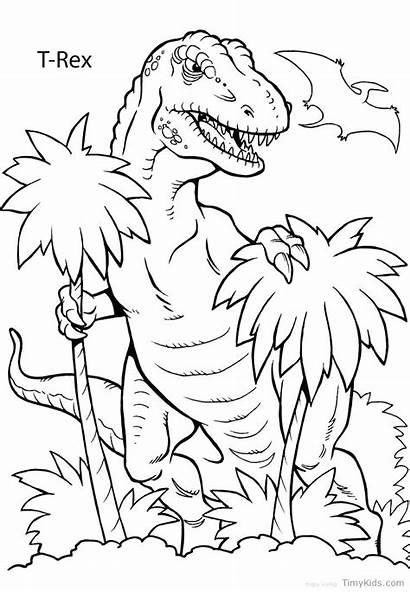 Dinosaur Realistic Coloring Pages Printable Preschool Getdrawings