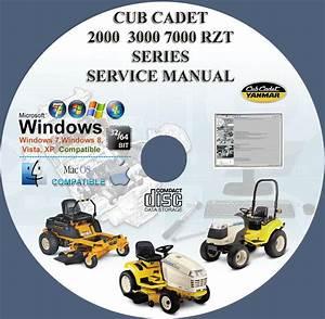 Cub Cadet 2000 3000 7000 Rzt Series Tractors  Mowers