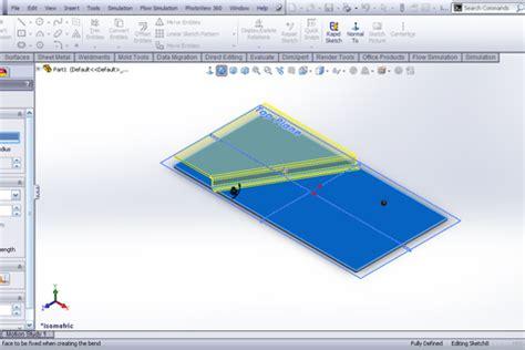 tutorial jog feature sheet metal in solidworks grabcad