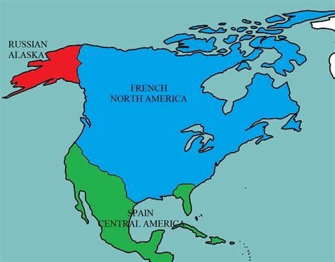 North America Postfrench Victory Of The Seven Years War