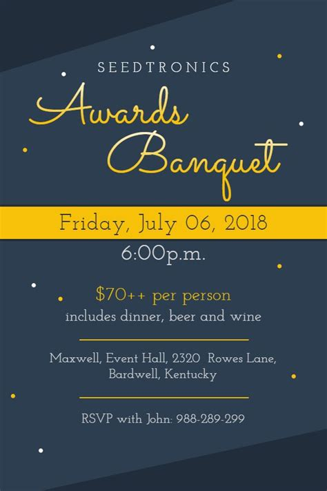 Modern awards banquet event invitation poster template