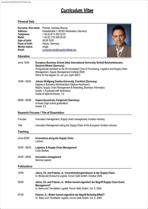 German Resume Template  Free Samples , Examples & Format. Motocross Sponsor Resume. Objective Statements On Resumes. Great Cover Letters For Resumes. Ui Developer Resume Template. Stay At Home Resume Sample. Property Management Resume Sample. Professional Sample Resumes. How To Read A Resume
