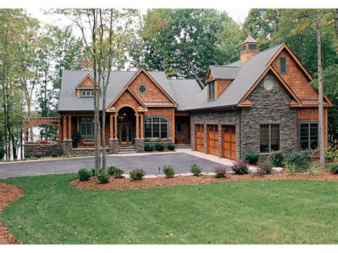 cabin style home craftsman house plans lake homes view plans lake house