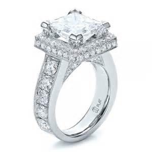 princess wedding rings custom princess cut wedding rings ipunya