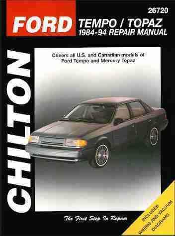 sell ford tempo  mercury topaz repair shop service