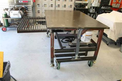 steel welding table plans diy welding table and cart ideas welding table