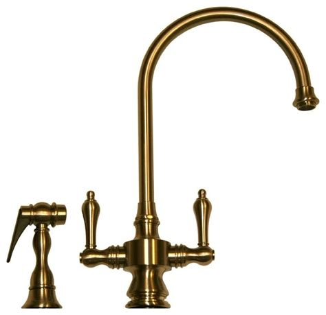 whitehaus kitchen faucets whitehaus vintage iii whksdlv3 8101 dual handle faucet 8