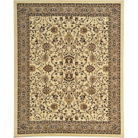 walmart area rugs 8 x 10 unique loom traditional kashan ivory 8 x 10 area rug