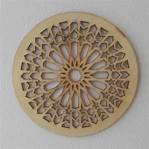 Holz Ornament Wand : holzornament kreis stern 123 d 14 cm verzierung applikation ~ Whattoseeinmadrid.com Haus und Dekorationen