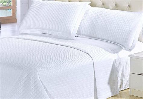 King White Coverlet by Modern Solid White Coverlet Quilt Bedding Set