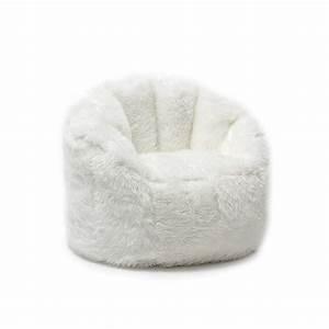 Bean Bag Chairs : bean bag chair for adults white fluffy furry shaggy teens kids dorm room bedroom ebay ~ Orissabook.com Haus und Dekorationen