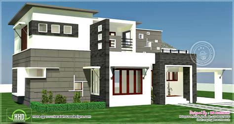 bhk  sqfeet contemporary house exterior house design plans