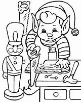Elf Coloring Pages Shelf Elves Dltk Holidays Christmas Colouring Santa Colour Xmas Hard sketch template