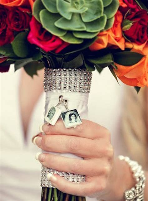 bc  wedding bouquet memorial photo charms small