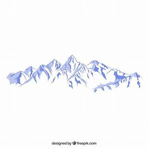 Snowy mountains illustration Vector | Free Download