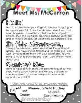 things intro template the 25 best ideas about introduction letter on back to school newsletter