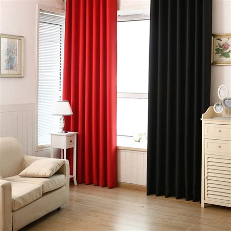 modern bedroom curtains solid color window shades