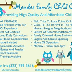 mendes family child care child care amp day care 1828 s 544 | ls