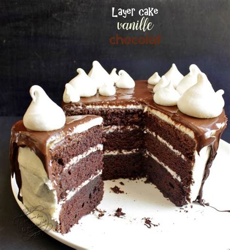 layer cake vanille chocolat facile recette gateau