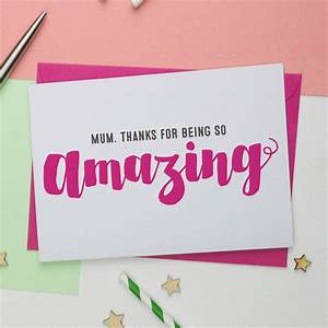 you're amazing mothers day card by a is for alphabet ...