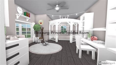 bloxburg princess toddlers room youtube