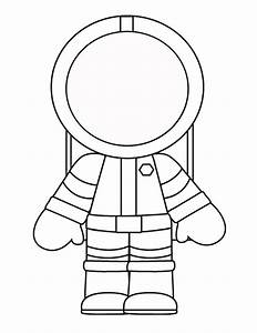 Free coloring pages of astronaut for preschool
