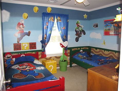 Mario Brothers Bedroom Boys Room In 2019 Mario Room