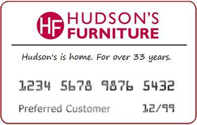 hudsons furniture credit card review