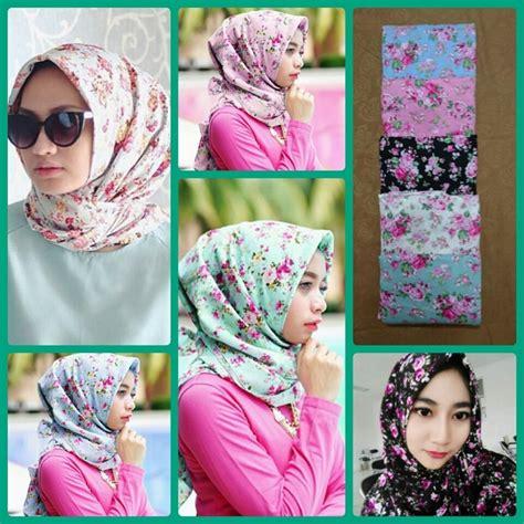 legging motif cara memakai jilbab segi empat simple dan sederhana