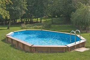 Piscine Hors Sol Acier Semi Enterrée : piscine hors sol acier m tal ou bois images arts et ~ Premium-room.com Idées de Décoration