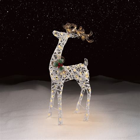 trim  home  led deer lighted decoration seasonal