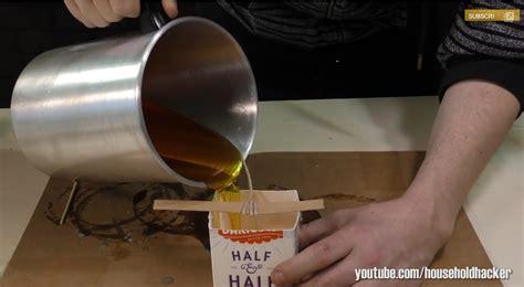 quand il verse de la cire fondue dans un de lait le r 233 sultat est surprenant c est fait